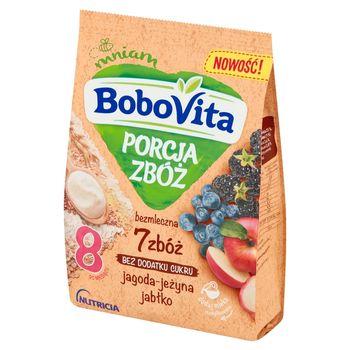BoboVita Porcja Zbóż Kaszka bezmleczna 7 zbóż jagoda-jeżyna jabłko po 8 miesiącu 170 g