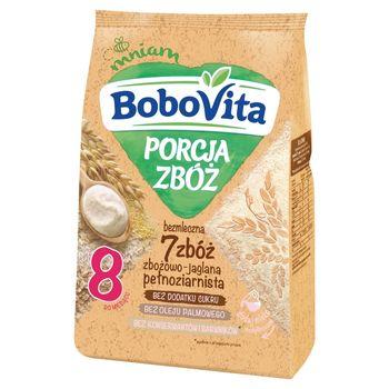 BoboVita Porcja zbóż Kaszka bezmleczna 7 zbóż zbożowo-jaglana pełnoziarnista po 8 miesiącu 170 g