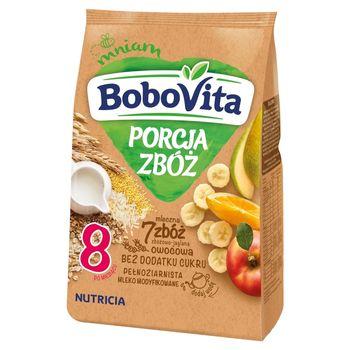 BoboVita Porcja Zbóż Kaszka mleczna 7 zbóż zbożowo-jaglana owocowa po 8 miesiącu 210 g