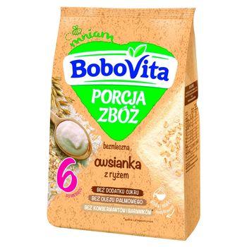 BoboVita Porcja zbóż Owsianka bezmleczna z ryżem po 6 miesiącu 170 g