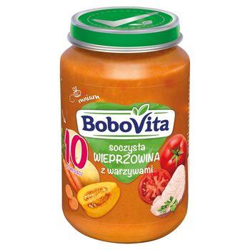 BoboVita Soczysta wieprzowina z warzywami po 10 miesiącu 190 g