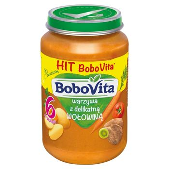 BoboVita Warzywa z delikatną wołowiną po 6 miesiącu 190 g