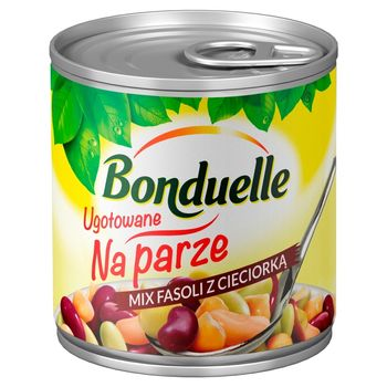 Bonduelle Ugotowane na parze Mix fasoli z cieciorką 310 g