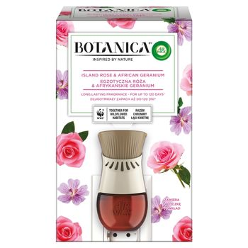 Botanica by Air Wick Elektryczny odświeżacz powietrza egzotyczna róża & afrykańskie geranium 19 ml