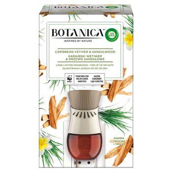 Botanica by Air Wick Elektryczny odświeżacz powietrza karaibski wetiwer & drzewo sandałowe 19 ml