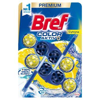 Bref WC Color Aktiv+ Zawieszka do muszli WC cytryna 2 x 50 g
