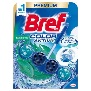 Bref WC Color Aktiv+ Zawieszka do muszli WC eukaliptus 50 g