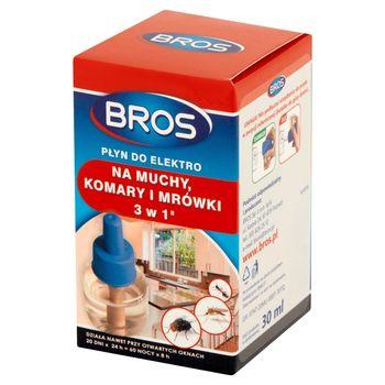 Bros Płyn do elektro na muchy komary i mrówki 3 w 1 30 ml