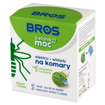 Bros Zielona moc Elektro + wkłady na komary 10 sztuk