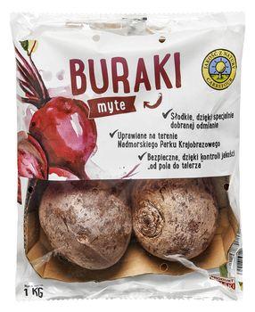 """Buraki myte """"Jakość z Natury Carrefour"""" 1 kg"""