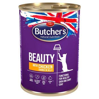Butcher's Beauty Karma dla dorosłych kotów kawałki w galaretce z kurczakiem 400 g