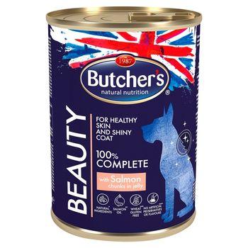 Butcher's Beauty Karma dla dorosłych psów kawałki w galaretce z łososiem 400 g