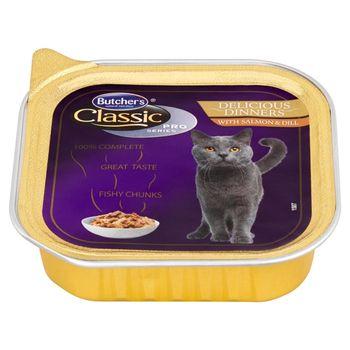 Butcher's Classic Pro Series Delicious Dinners Karma dla kotów kawałki w sosie z łososiem 100 g