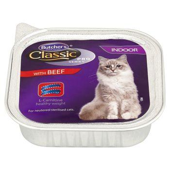 Butcher's Classic Pro Series Karma dla dorosłych kotów pasztet z wołowiną 100 g