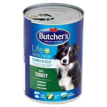 Butcher's Life Karma dla dorosłych psów kawałki w galaretce z indykiem 400 g