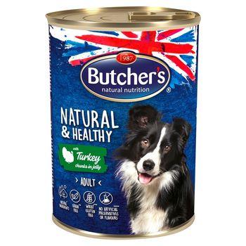 Butcher's Natural & Healthy Karma dla dorosłych psów kawałki w galaretce z indykiem 400 g