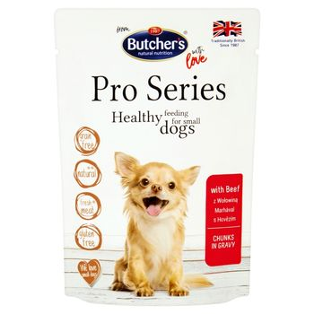 Butcher's Pro Series Karma dla dorosłych psów kawałki w sosie z wołowiną 100 g
