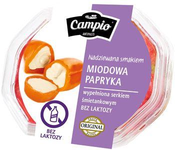 Campio - Miodowa papryka wypełniona serem bez laktozy 250 g
