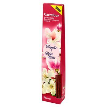 Carrefour Aroma Sticks magnolia i kwiat wiśni Dekoracyjny odświeżacz powietrza zapas 75 ml