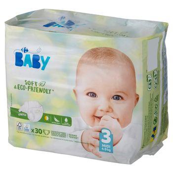 Carrefour Baby Pieluchy dziecięce 3 Midi 4-9 kg 30 sztuk