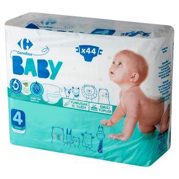 Carrefour Baby Pieluchy dziecięce 4 Maxi 7-14 kg 44 sztuki