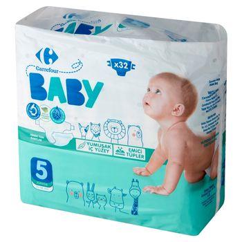 Carrefour Baby Pieluchy dziecięce 5 Junior 11-18 kg 32 sztuki