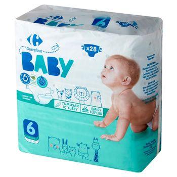 Carrefour Baby Pieluchy dziecięce 6 XL 15-27 kg 28 sztuk