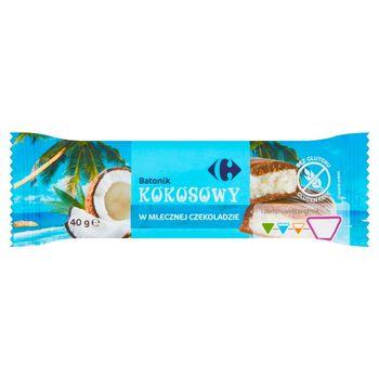 Carrefour Batonik kokosowy w mlecznej czekoladzie 40 g