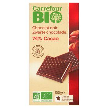 Carrefour Bio 74% Cacao Czekolada ciemna 100 g