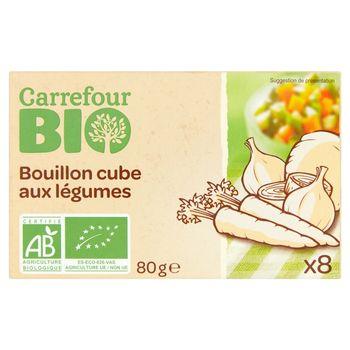 Carrefour Bio Bulion warzywny w proszku 80 g (8 x 10 g)