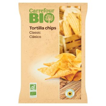 Carrefour Bio Classic Chipsy tortilla 125 g