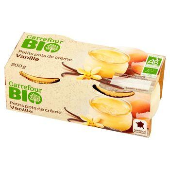 Carrefour Bio Deser mleczny waniliowy 200 g (2 x 100 g)