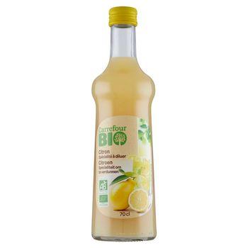 Carrefour Bio Ekologiczna baza do przygotowywania napojów cytrynowa 700 ml