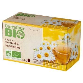 Carrefour Bio Ekologiczna herbatka ziołowa rumianek 30 g (20 x 1,5 g)