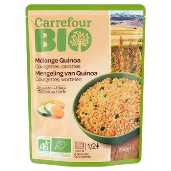 Carrefour Bio Ekologiczna mieszanka komosy ryżowej cukinii i marchwi 250 g