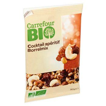 Carrefour Bio Ekologiczna mieszanka suszonych owoców i orzechów 50 g