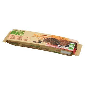 Carrefour Bio Ekologiczne ciastka kakaowe owsiano-pszenne pełnoziarniste z czekoladą 200 g