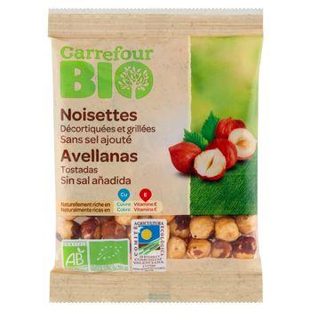Carrefour Bio Ekologiczne orzechy laskowe łuskane prażone 90 g