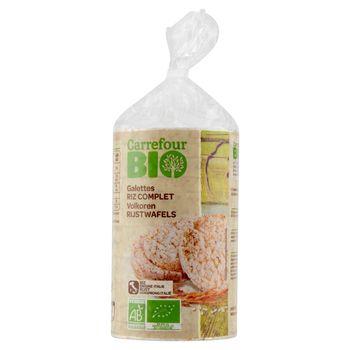 Carrefour Bio Ekologiczne wafle ryżowe pełnoziarniste 100 g