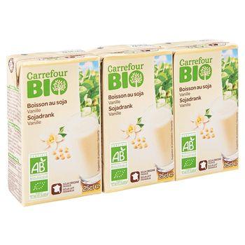 Carrefour Bio Ekologiczny napój sojowy waniliowy 3 x 250 ml