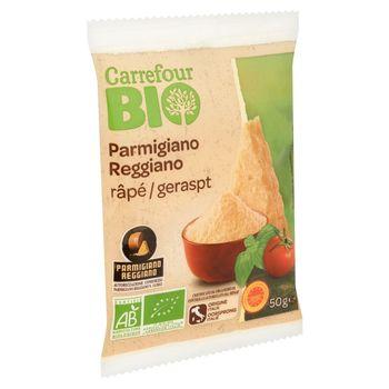 Carrefour Bio Ekologiczny włoski ser Parmigiano Reggiano tarty 50 g