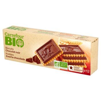 Carrefour Bio Herbatniki z gorzką czekoladą 150 g