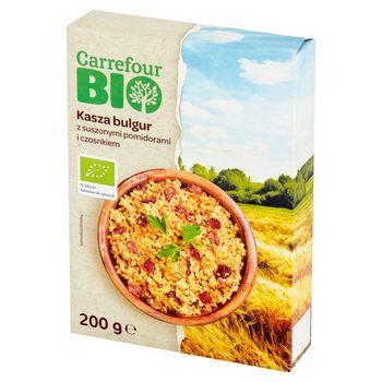 Carrefour Bio Kasza bulgur z suszonymi pomidorami i czosnkiem 200 g (2 x 100 g)