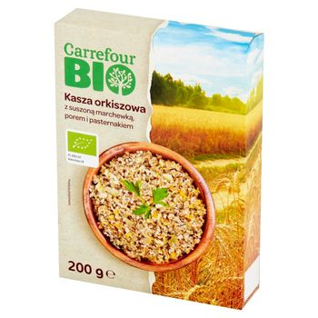 Carrefour Bio Kasza orkiszowa z suszoną marchewką porem i pasternakiem 200 g (2 x 100 g)