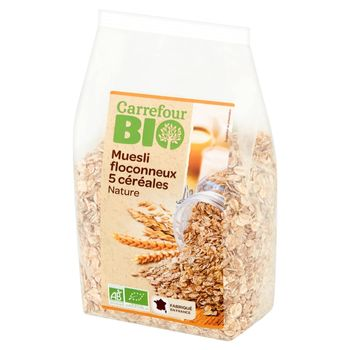 Carrefour Bio Musli mieszanka płatków z 5 zbóż 500 g