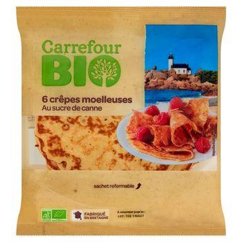 Carrefour Bio Naleśniki z cukrem trzcinowym 210 g (6 sztuk)