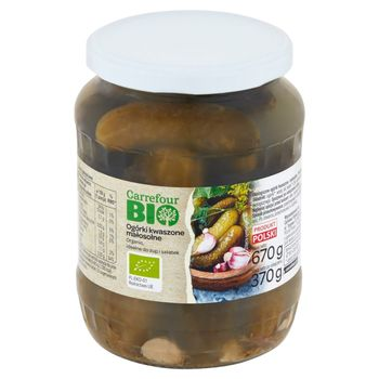 Carrefour Bio Ogórki kwaszone małosolne 670 g