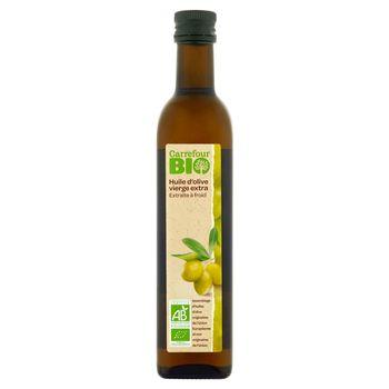 Carrefour Bio Oliwa z oliwek najwyższej jakości z pierwszego tłoczenia 500 ml