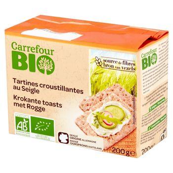 Carrefour Bio Pieczywo chrupkie żytnie 200 g