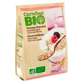 Carrefour Bio Ekologiczne płatki owsiane 500 g
